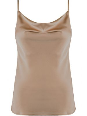 SATIN TOP I BEIGE SIENA