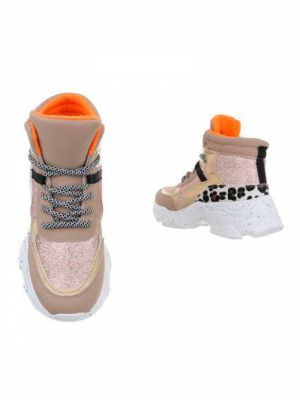 Stiv - High Sneakers med glimmer