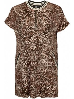 Leo - Plus size tunik i animal print