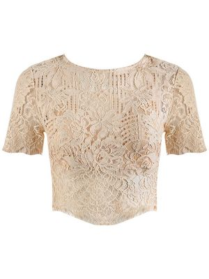 BEIGE BLONDE CROP-TOP / OMAR 2