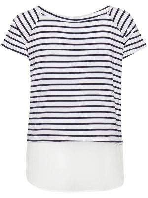 STRIBET T-SHIRT MED PRINT HONEY R  JOLLYYOUNG