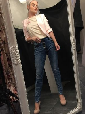 JEANS MED DENIM LOOK / INES