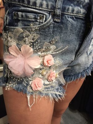 DENIM SHORTS MED SLID RIVA